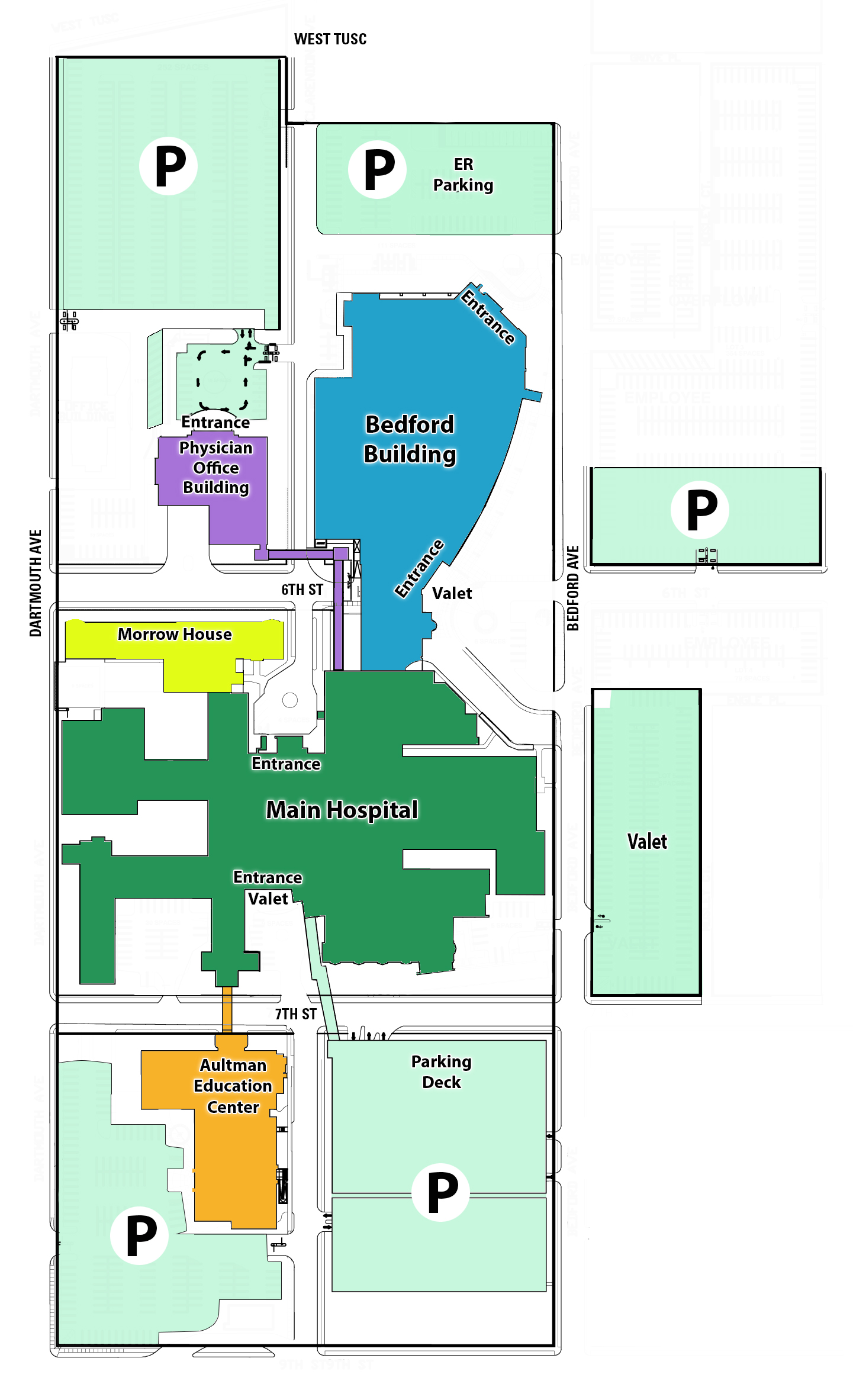 Parking, Valet and Maps » Aultman